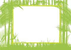 Bamboo and Jungle Frame Stock Illustration
