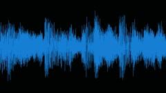 Audio waveform (equalizer - 60 seconds), blue Stock Footage
