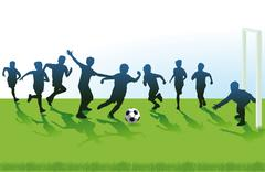 Youth Soccer Stock Illustration