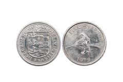 Five pence coin from Guernsey 1979 Stock Photos