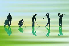 Green golf course Stock Illustration
