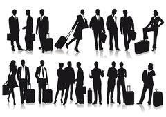 Passengers and travelers  Stock Illustration