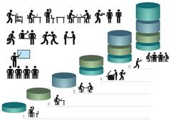 Stock Illustration of Infographics pictograms