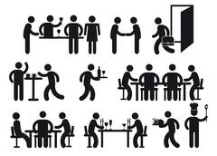 Restaurant pictograms  Stock Illustration