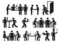Stock Illustration of Restaurant pictograms