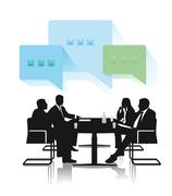 Discussion groups Stock Illustration