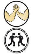 Arm Wrestling  - stock illustration