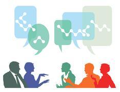 people communicate  - stock illustration