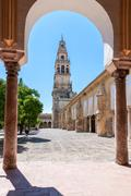 Bell tower in The Great Mosque of Cordoba Stock Photos
