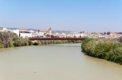 View of Guadalquivir River in spanish Cordoba - stock photo