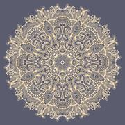 Mandala, circle decorative spiritual indian symbol of lotus flow Stock Illustration