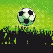 Goal Celebration  - stock illustration