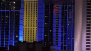 Stock Video Footage of 4K Bright Neon City Night Building Lights