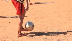 Brazilian indigenous kids playing soccer, Brazil - childrens having fun 10 Stock Footage