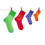 Christmas sock - stock illustration
