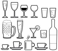 Stock Illustration of drinks icons