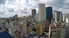 Aerial View of the big city of Sao Paulo Stock Footage