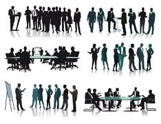 Business groups meetings Stock Illustration