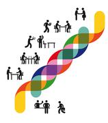 Development and Cooperation - stock illustration