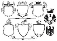 Royal Knights Coat of Arms Stock Illustration