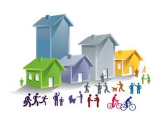 Stock Illustration of Community life