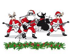 Christmas Band - stock illustration