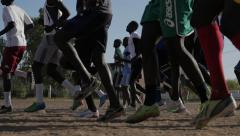 Stock Video Footage of Soccer Training in Africa - Football training (slow motion)