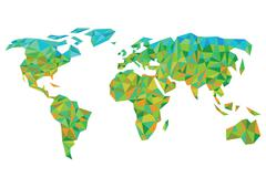 colorful worldmap - stock illustration