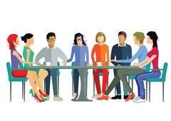 Team Discussion - stock illustration