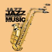 jazz music on a beige background - stock illustration