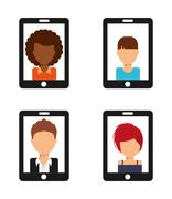 user technology - stock illustration