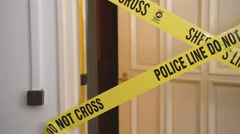 Yellow Plastic Crime Scene - stock footage