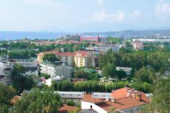 Panorama of Kirish suburb of Kemer in Turkey - stock photo