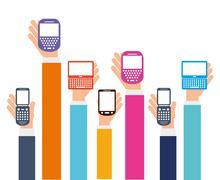 cellphone - stock illustration