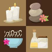 natural spa - stock illustration