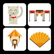 chinese culture - stock illustration