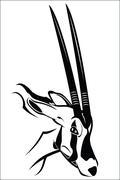 Gemsbok antelope - stock illustration