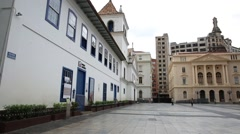 Patio do Colegio (School Yard) in Sao Paulo, Brazil - stock footage