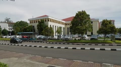 Pan Shot at University Street in University of Science Malaysia, Penang Stock Footage