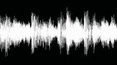 Audio waveform (equalizer - 60 seconds), white Stock Footage