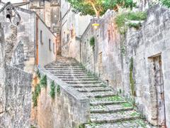 Sassi the historic center of the city Matera in Italy UNESCO European Capital Stock Photos