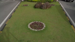 Tilting Shot from Carpet Grass to Entrance of USM University in Malaysia Stock Footage
