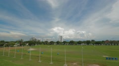 Pan Shot from USM Main Field to USM Sign in Penang Stock Footage