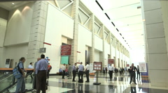 Busy Convention Center Tradeshow Stock Footage