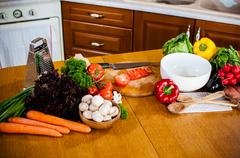 Homemade food preparation - stock photo