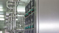Modern equipment for breweries Stock Footage