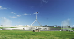 Stock Video Footage of A 4k time lapse shot of Australian Parliament House, Canberra