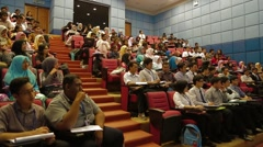 Students Listening to Lecture Inside Lecture Hall in Allianze University Stock Footage