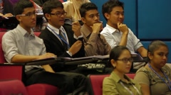 Asian Male University Students in A Class Lecture in Allianze University, Penang Stock Footage