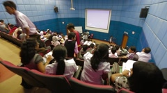 High Angle Shot of A Lecture Hall Full Of Students in Penang, Malaysia Stock Footage